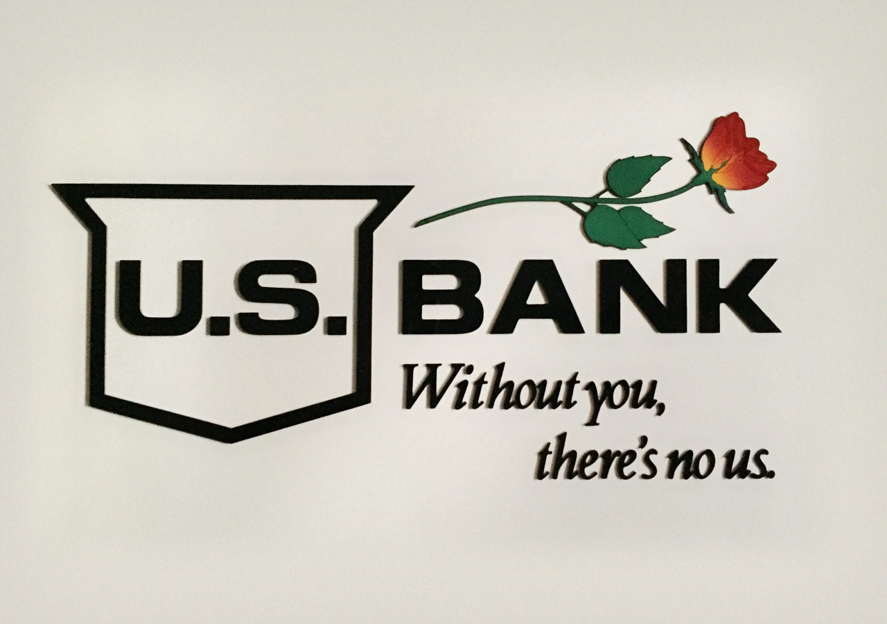 Wall sign for the U.S. Bank Rose Garden (Moda Center) suite