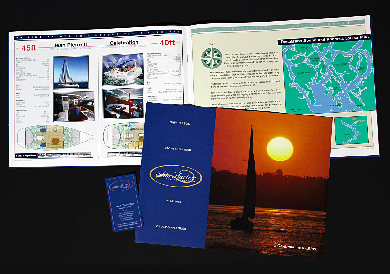 Ship Harbor Yacht Charters Catalog & Business Cards