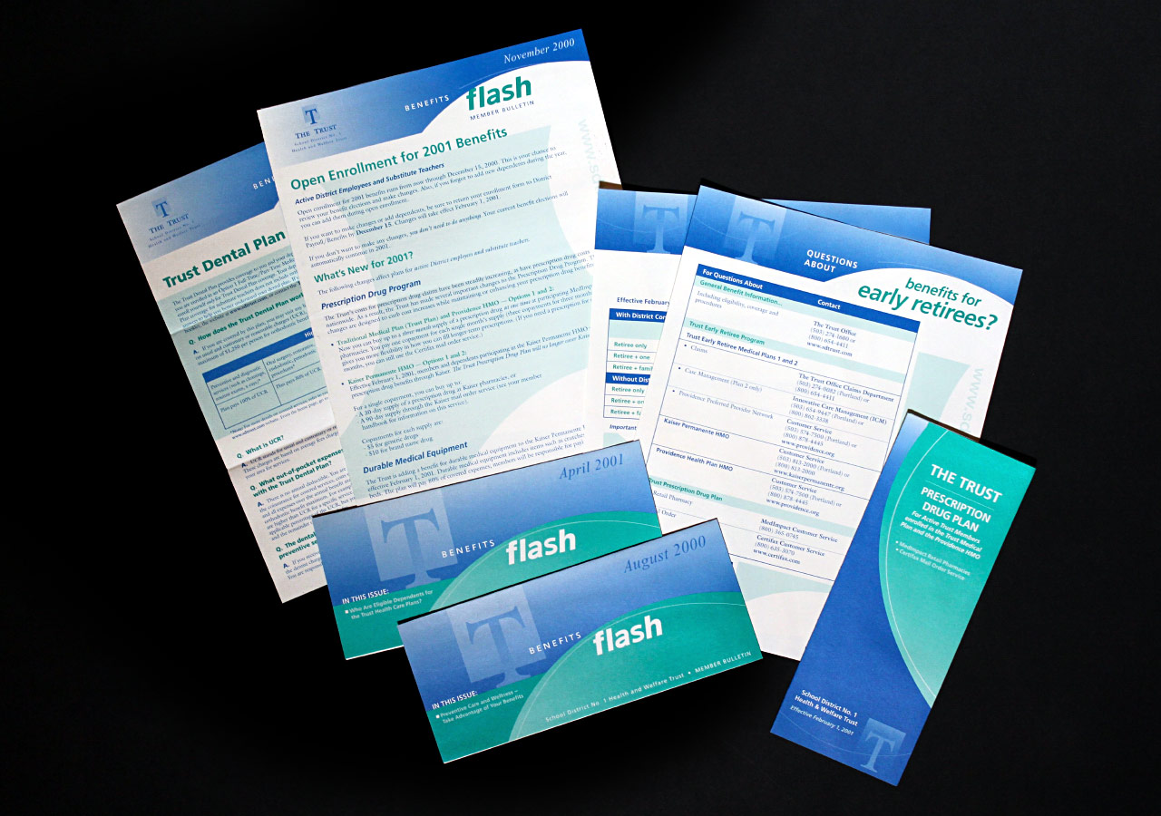 The Trust Healthcare Benefits Print Materials