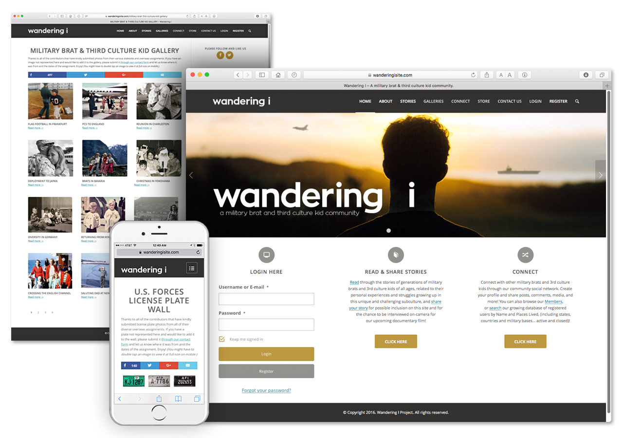 Wandering I Web Site